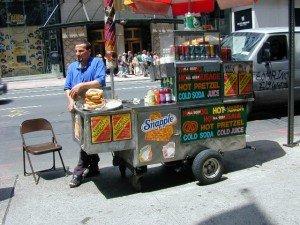 Stand de hots dogs et de bretzels
