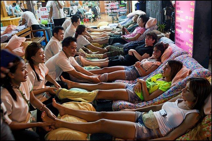 Massage des pieds à Khao San Road