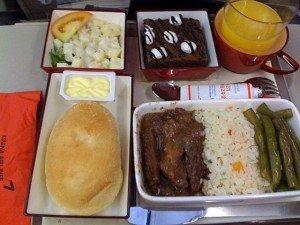 Mon repas dans l'avion