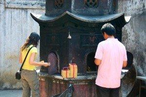 Offrandes dans un temple de Tainan