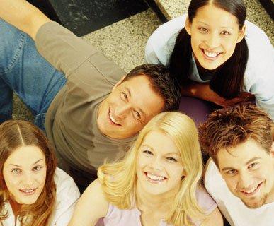 Etudiants heureux