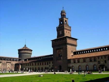 milan Le château Sforza et son jardin
