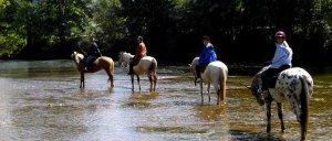 la Dordogne à cheval